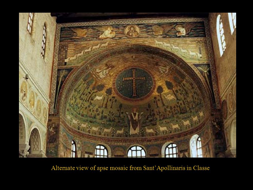 Alternate view of apse mosaic from Sant'Apollinaris in Classe