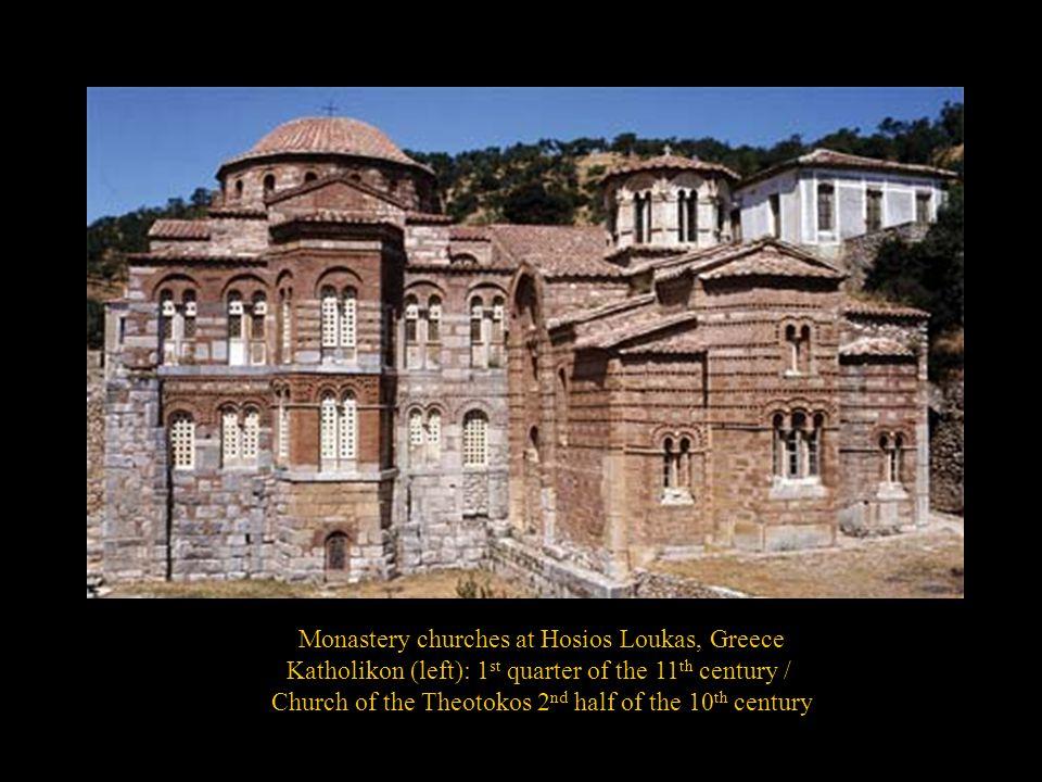 Monastery churches at Hosios Loukas, Greece