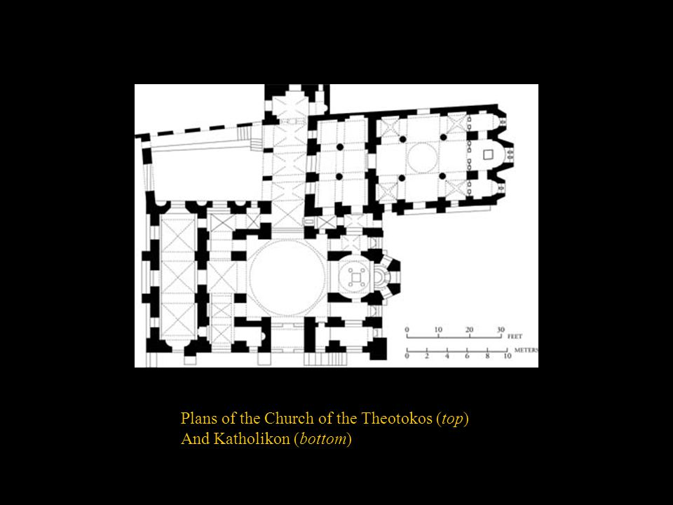 Plans of the Church of the Theotokos (top)