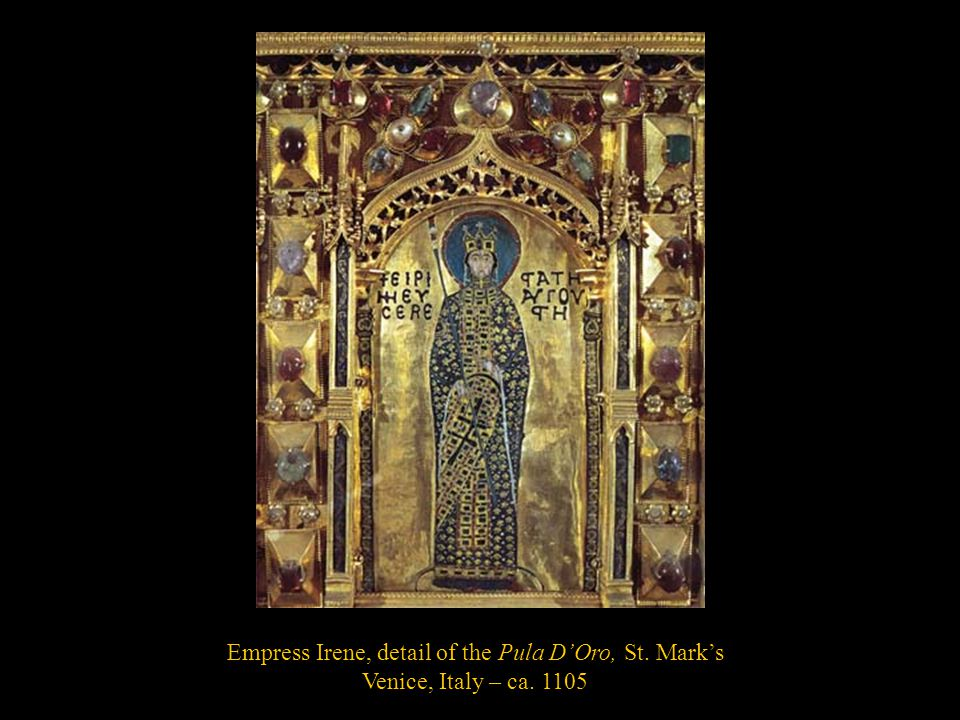 Empress Irene, detail of the Pula D'Oro, St. Mark's