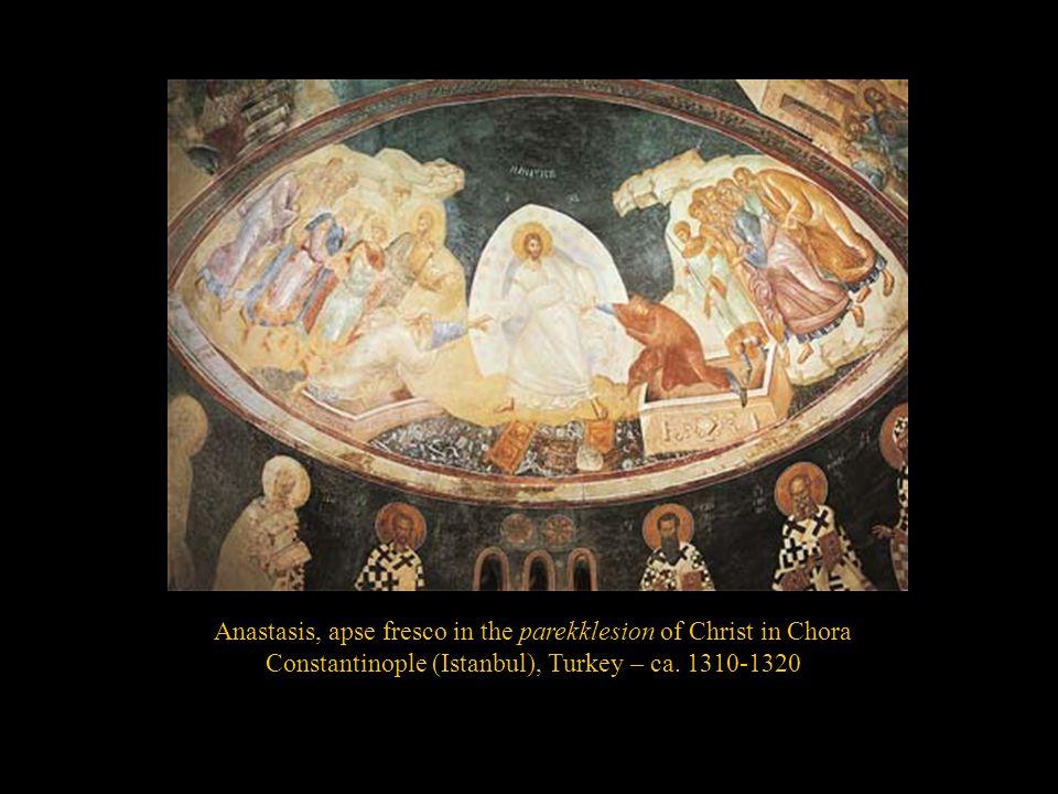 Anastasis, apse fresco in the parekklesion of Christ in Chora