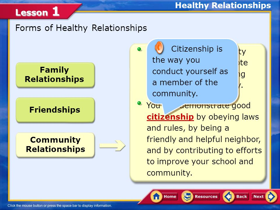 Healthy Relationships Community Relationships