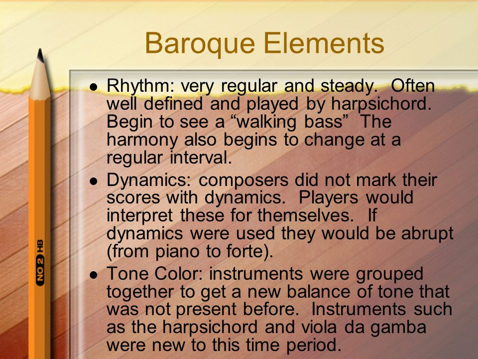 Baroque Elements