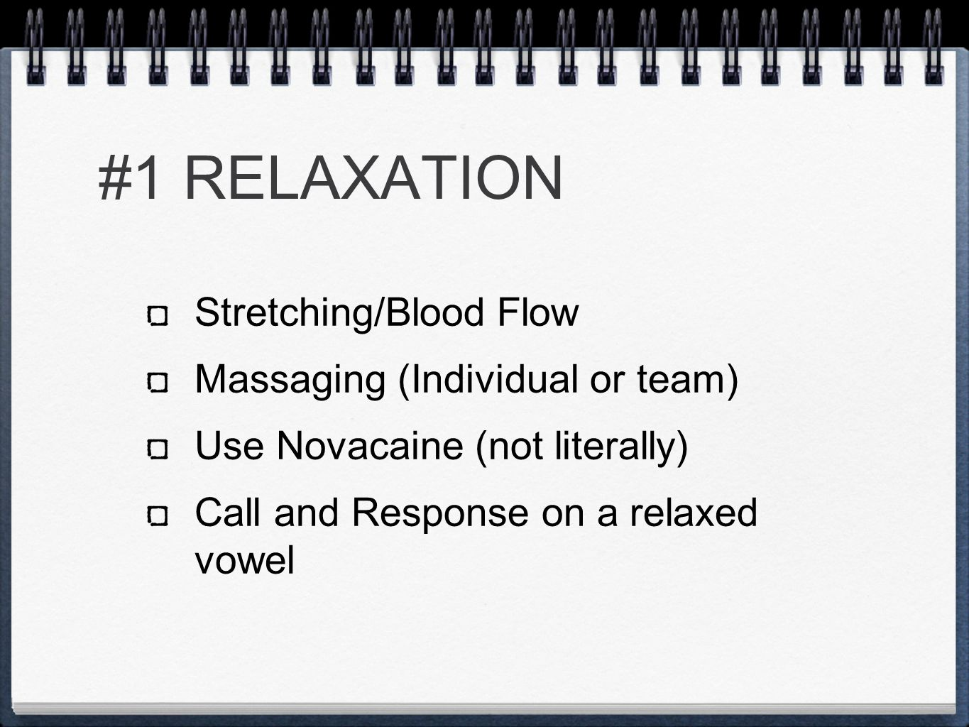 #1 RELAXATION Stretching/Blood Flow Massaging (Individual or team)