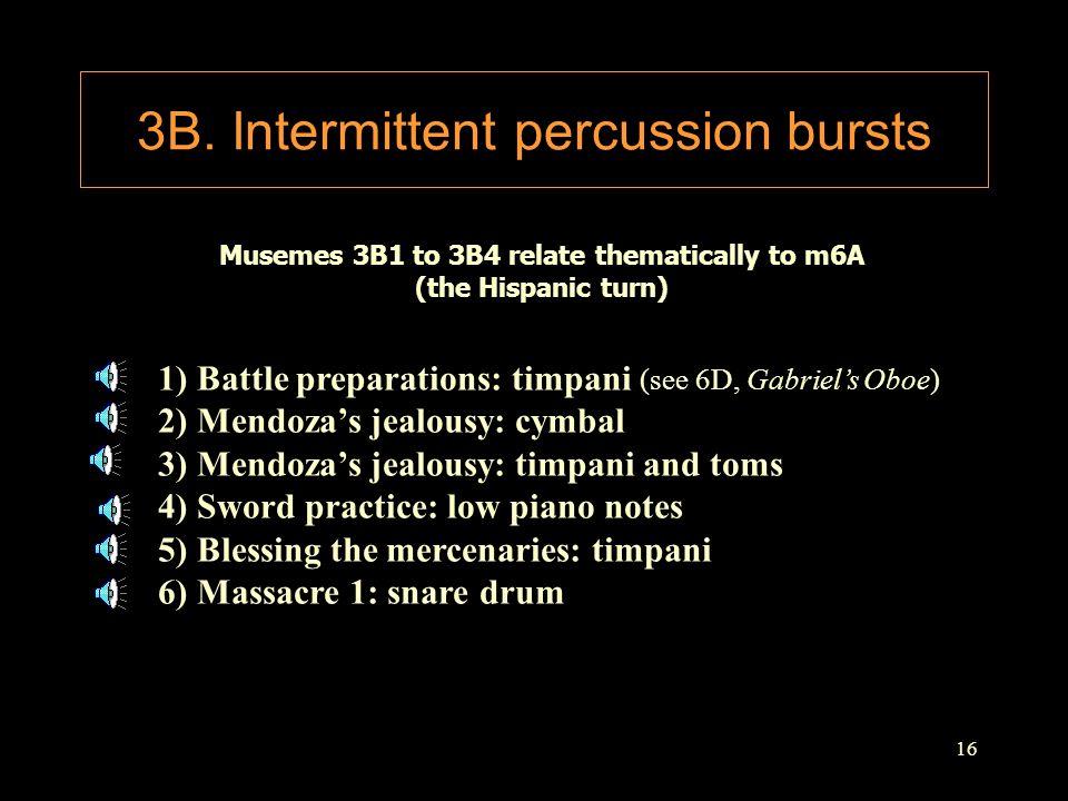3B. Intermittent percussion bursts