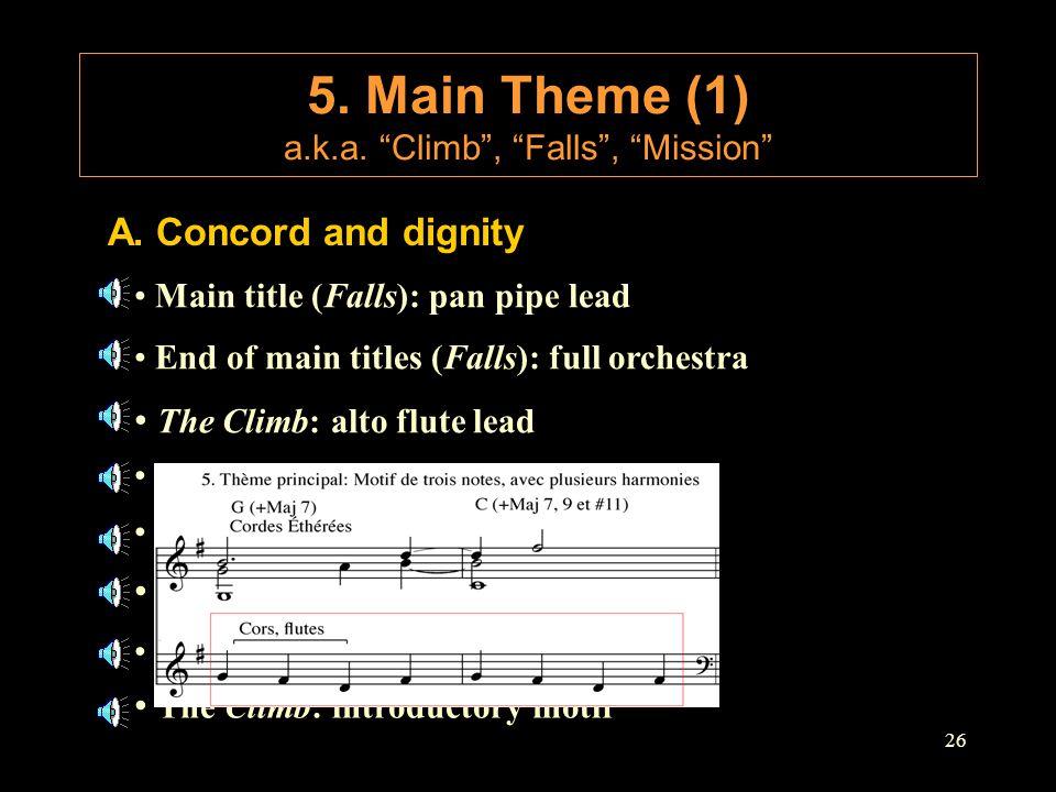 5. Main Theme (1) a.k.a. Climb , Falls , Mission