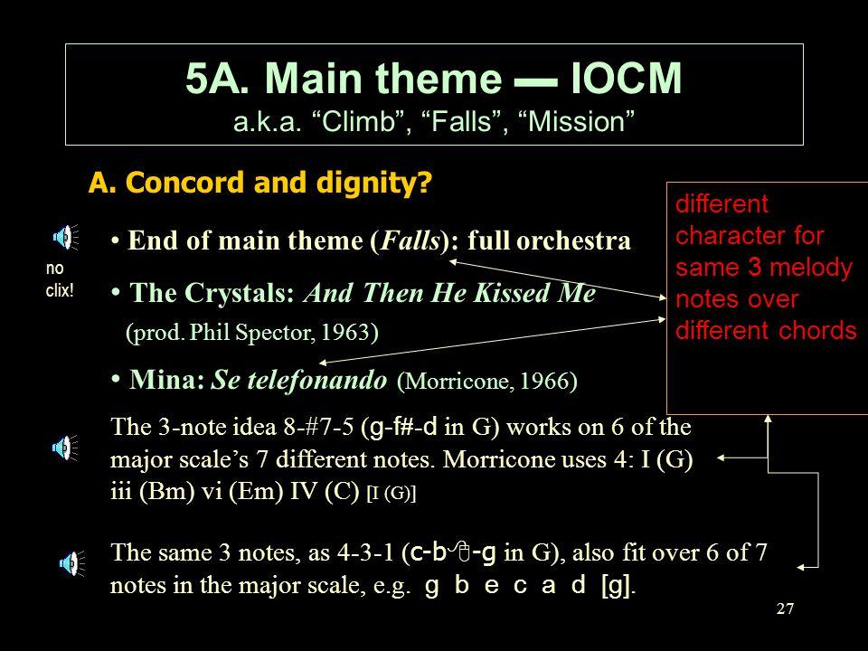 5A. Main theme ▬ IOCM a.k.a. Climb , Falls , Mission