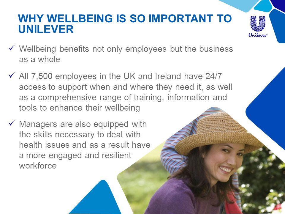 WHY WELLBEING IS SO IMPORTANT TO UNILEVER