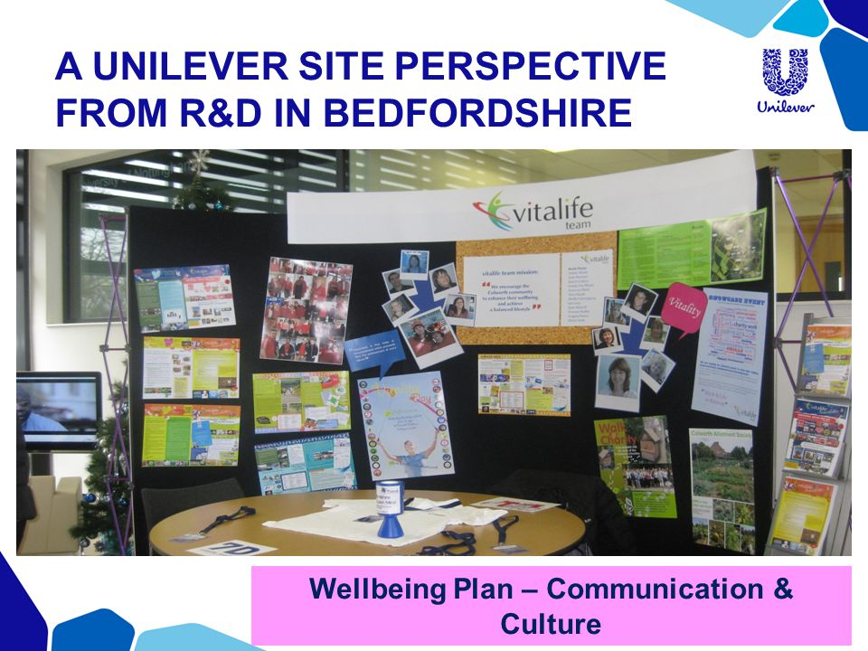 A UNILEVER SITE PERSPECTIVE FROM R&D IN BEDFORDSHIRE