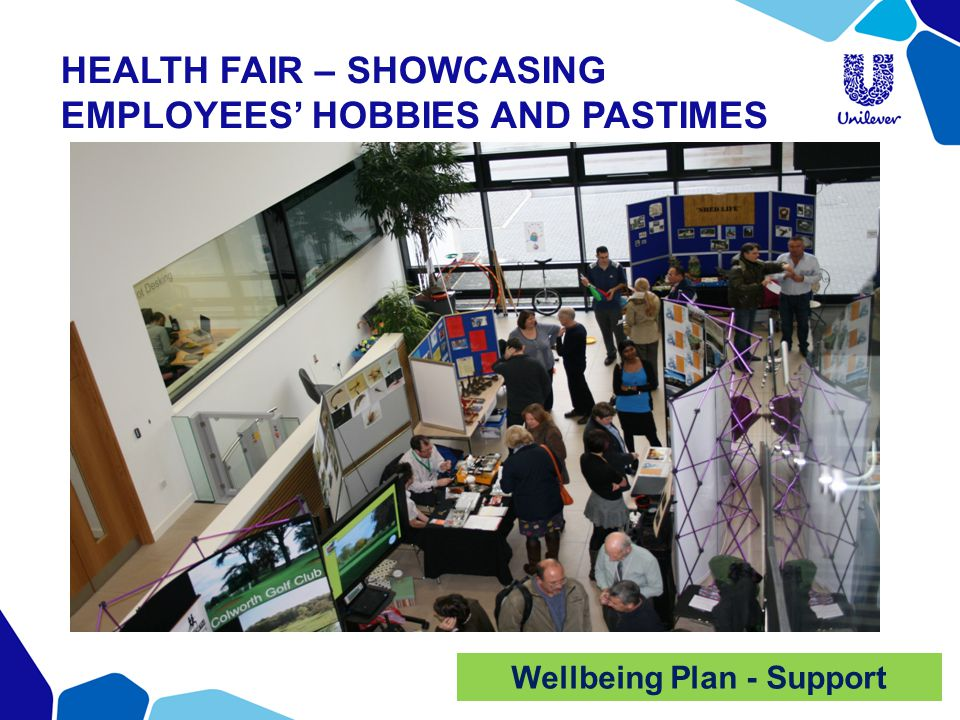 HEALTH FAIR – SHOWCASING EMPLOYEES' HOBBIES AND PASTIMES