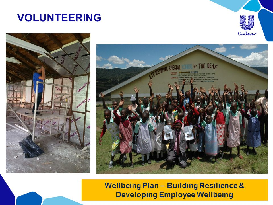 Wellbeing Plan – Building Resilience & Developing Employee Wellbeing