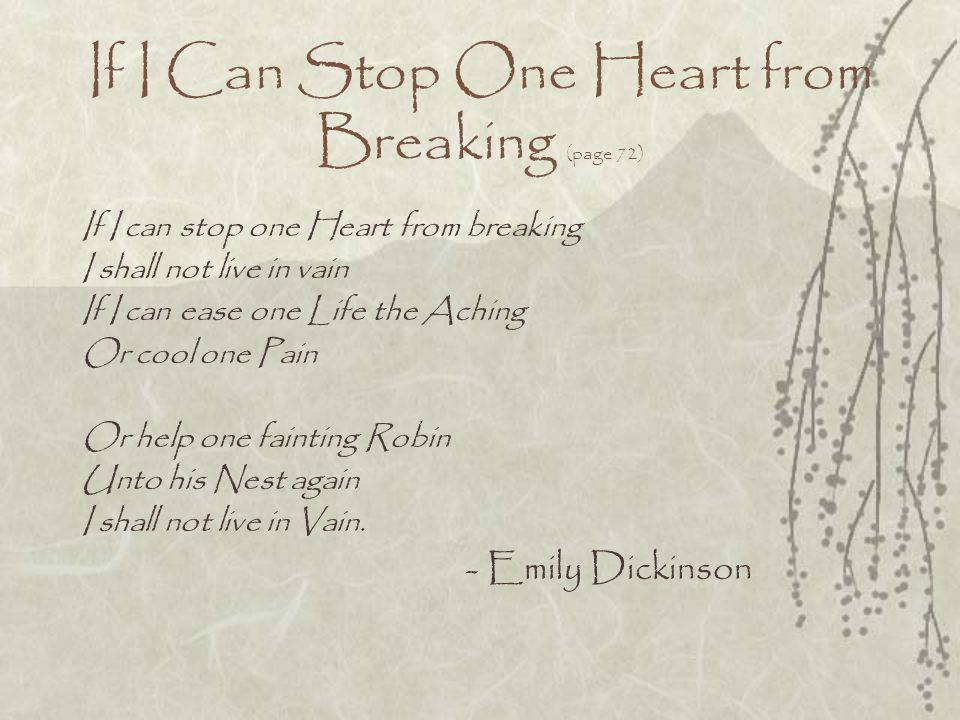 If I Can Stop One Heart from Breaking (page 72)