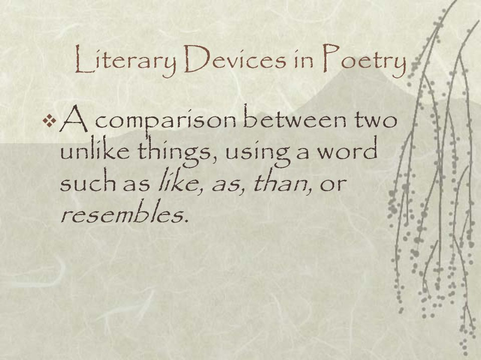 Literary Devices in Poetry
