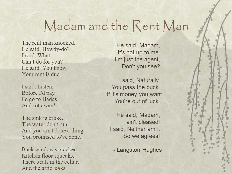 Madam and the Rent Man