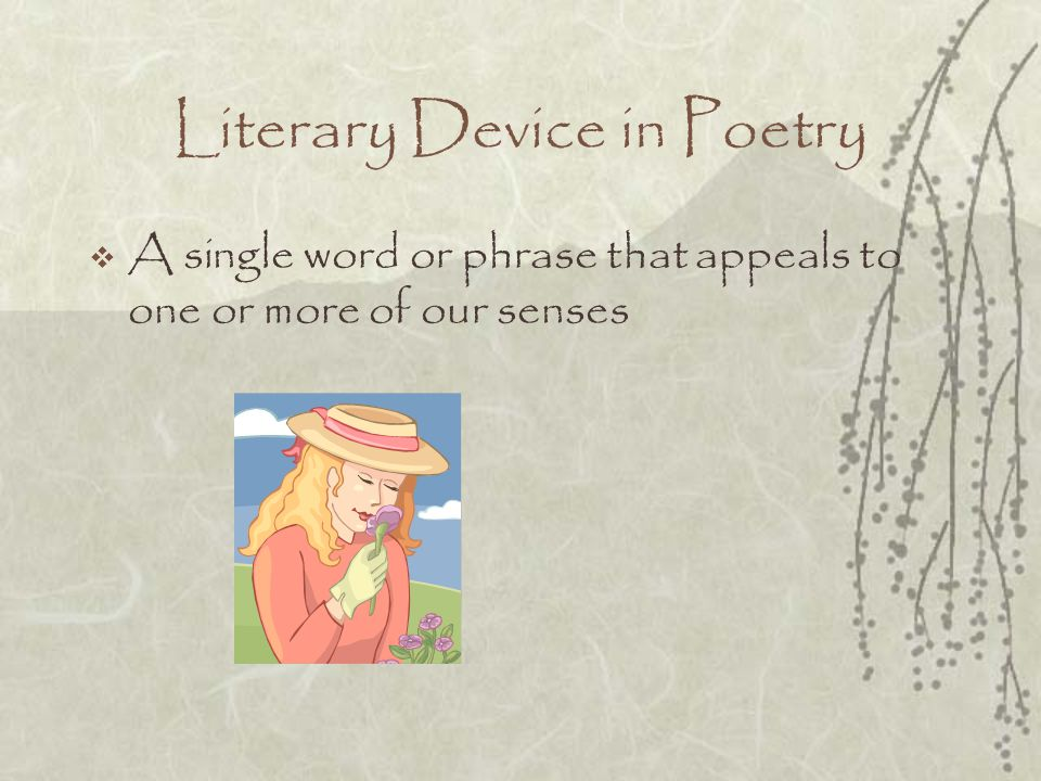 Literary Device in Poetry