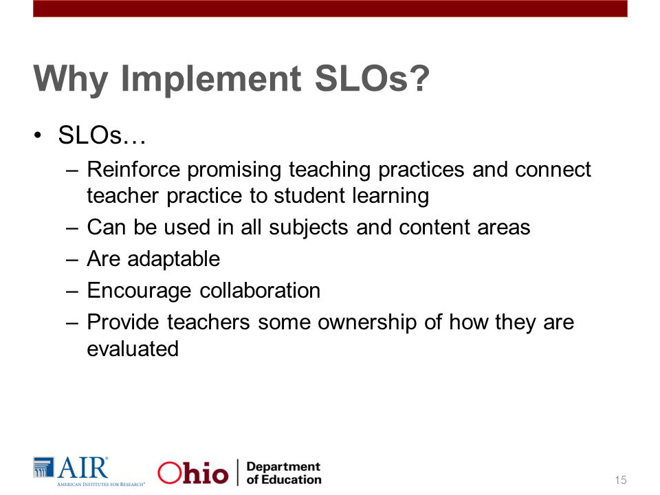 Why Implement SLOs SLOs…