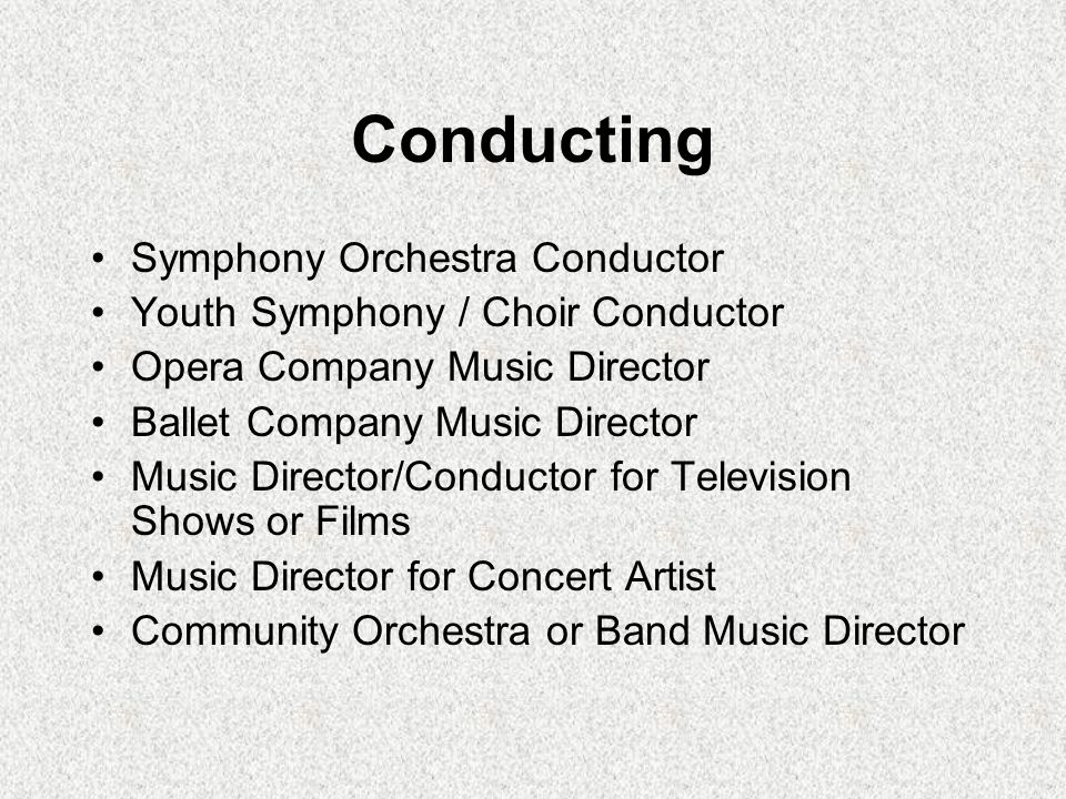 Conducting Symphony Orchestra Conductor