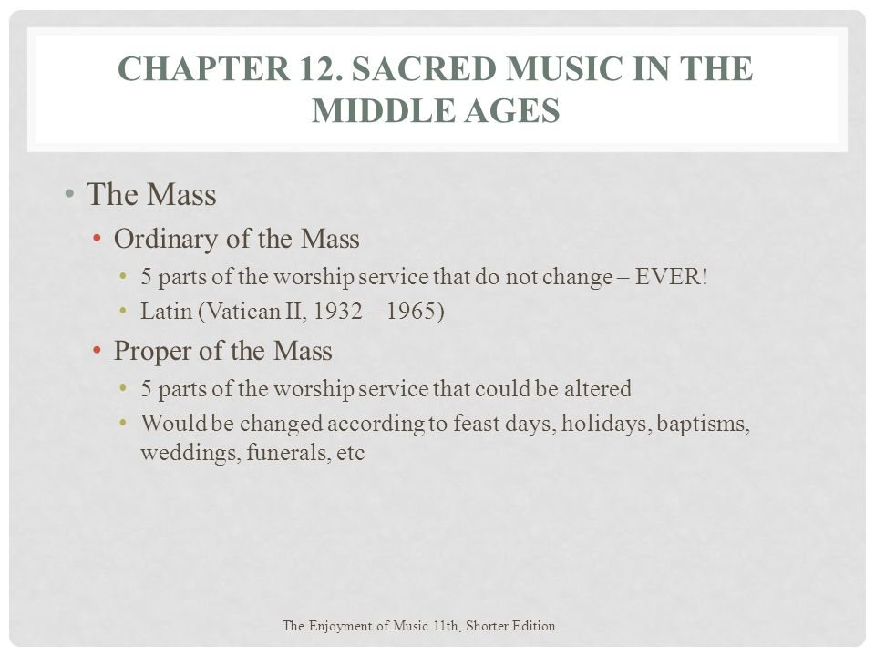 Chapter 12. Sacred Music in the Middle Ages