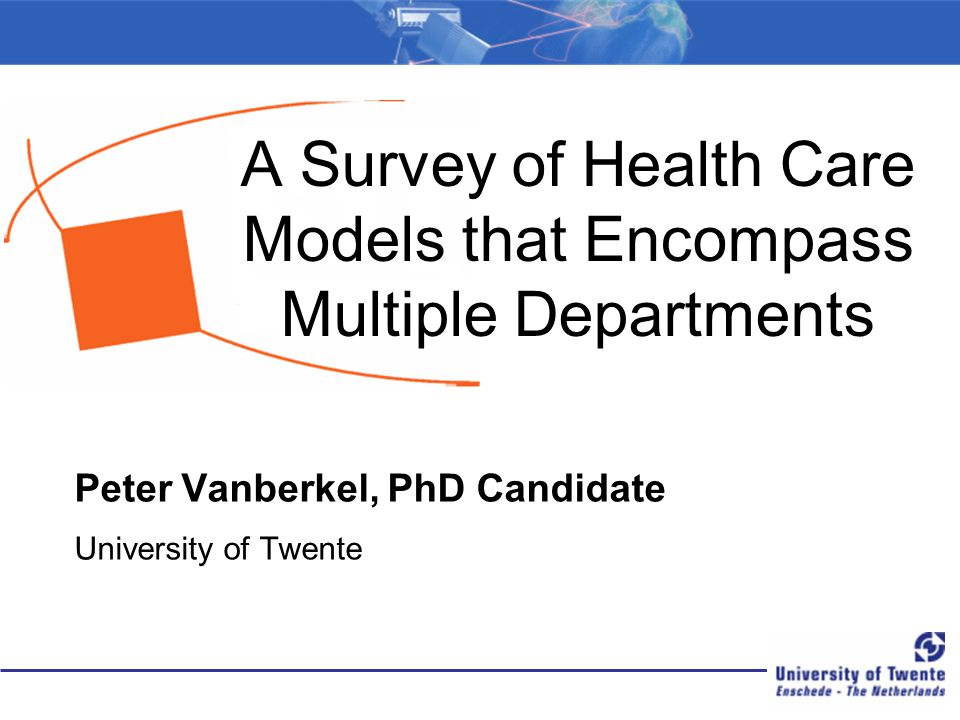 A Survey of Health Care Models that Encompass Multiple Departments