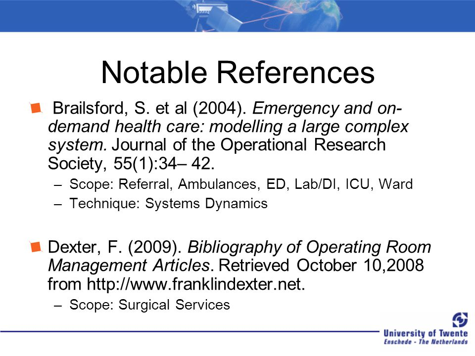 Notable References