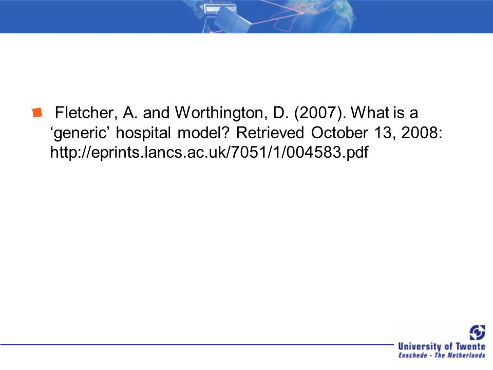 Fletcher, A. and Worthington, D. (2007)
