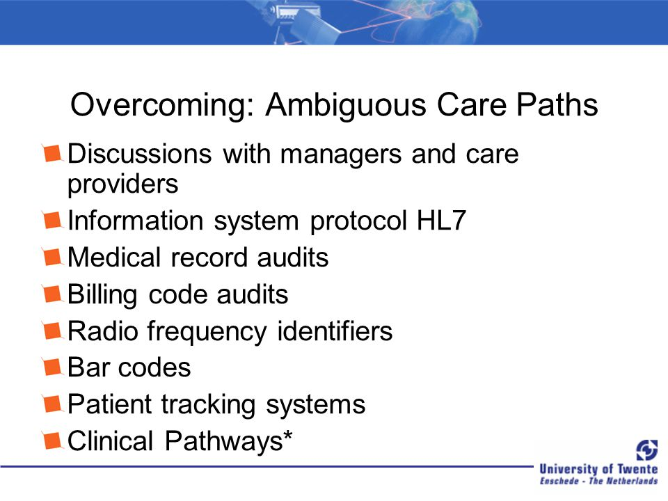 Overcoming: Ambiguous Care Paths