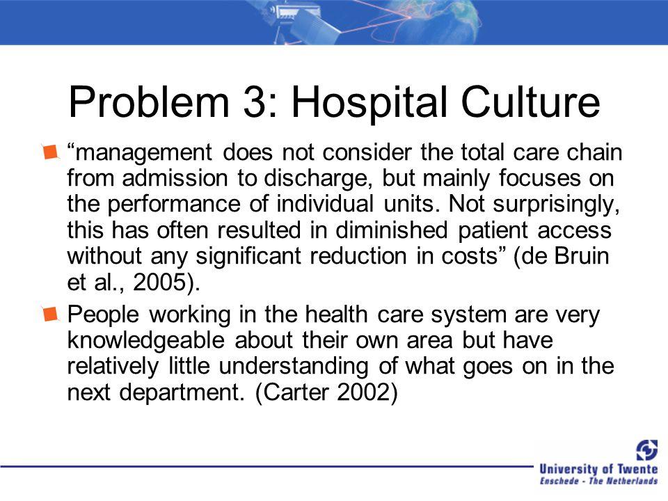 Problem 3: Hospital Culture