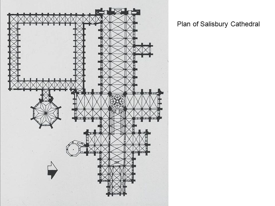 Plan of Salisbury Cathedral
