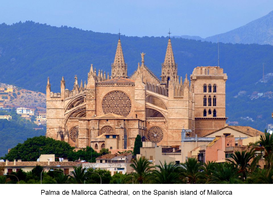 Palma de Mallorca Cathedral, on the Spanish island of Mallorca