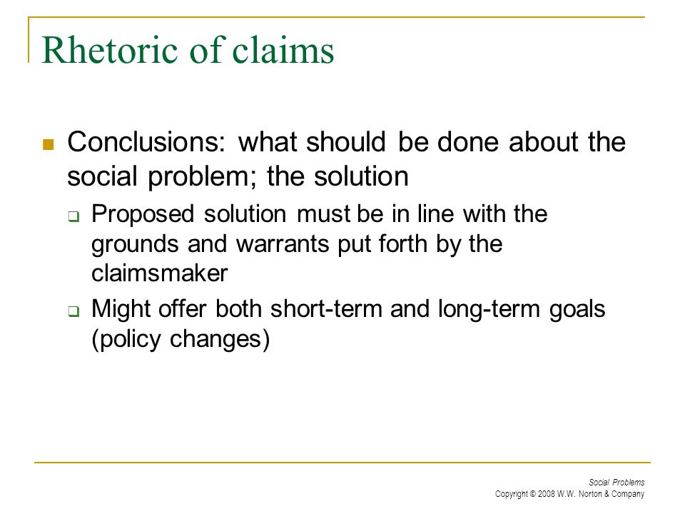claimsmakers Answer to what is the definition of claims making for sociology.