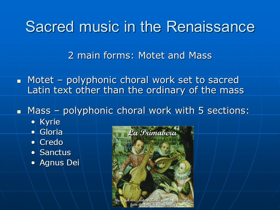 Sacred music in the Renaissance
