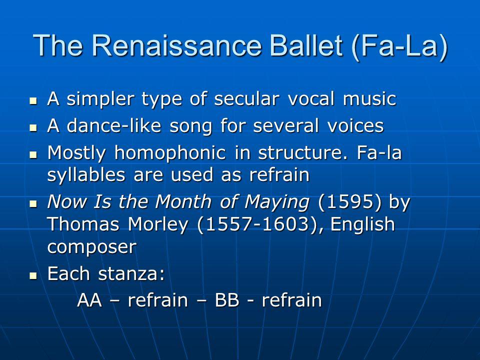 The Renaissance Ballet (Fa-La)