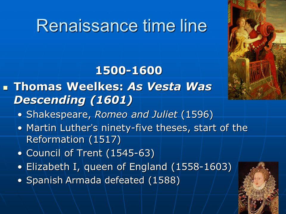 Renaissance time line 1500-1600