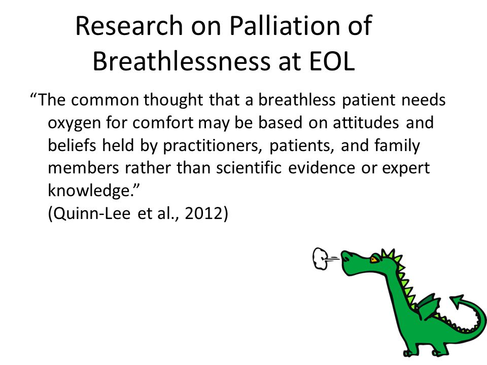 Research on Palliation of Breathlessness at EOL