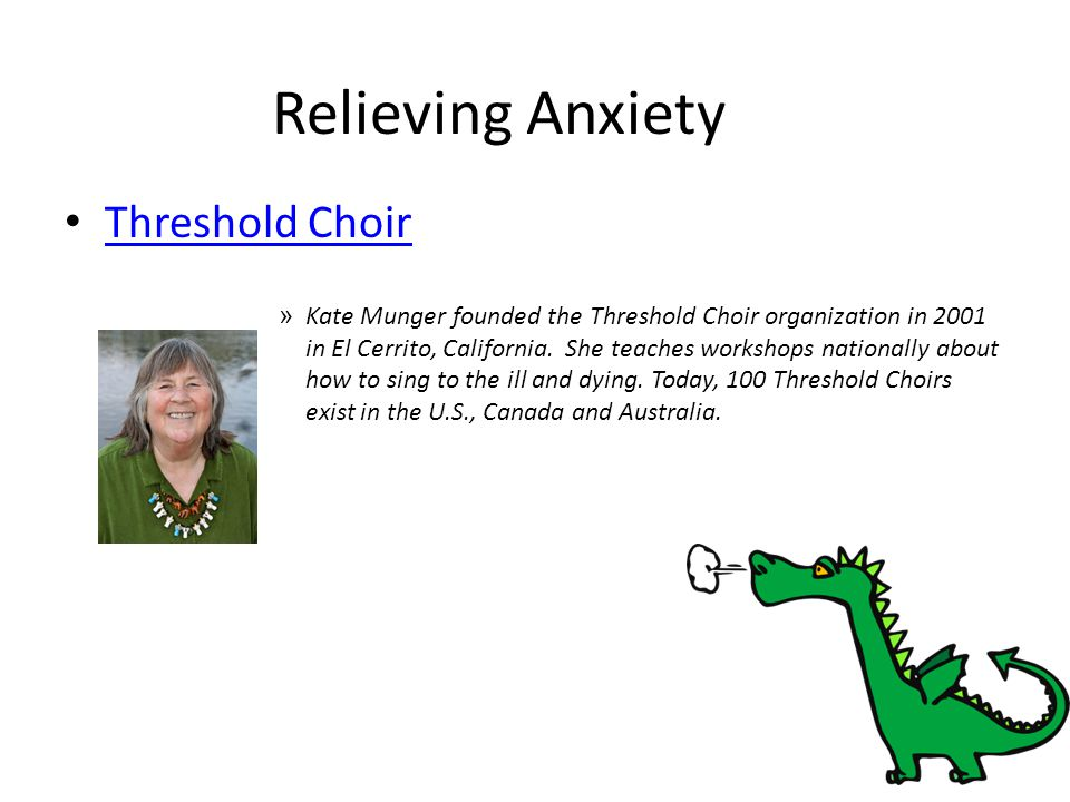 Relieving Anxiety Threshold Choir