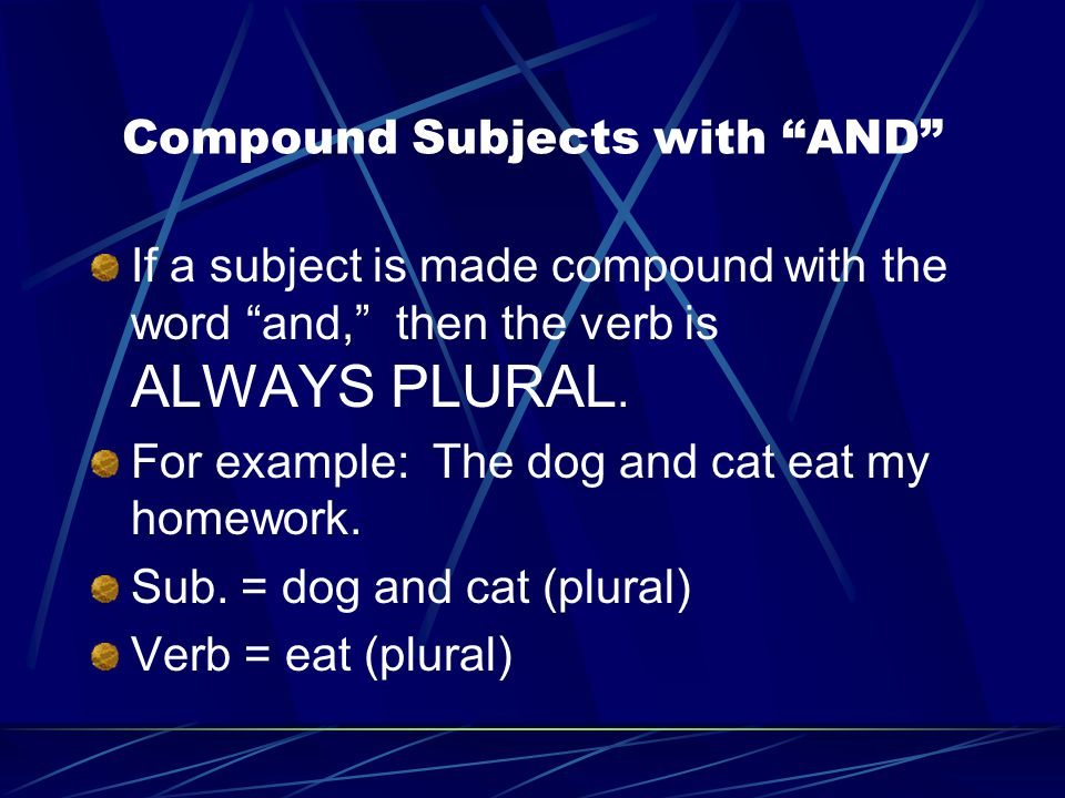 Compound Subjects with AND