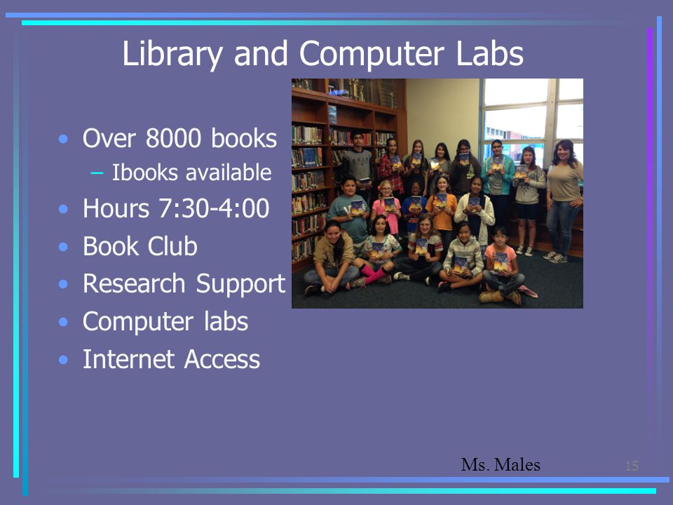 Library and Computer Labs
