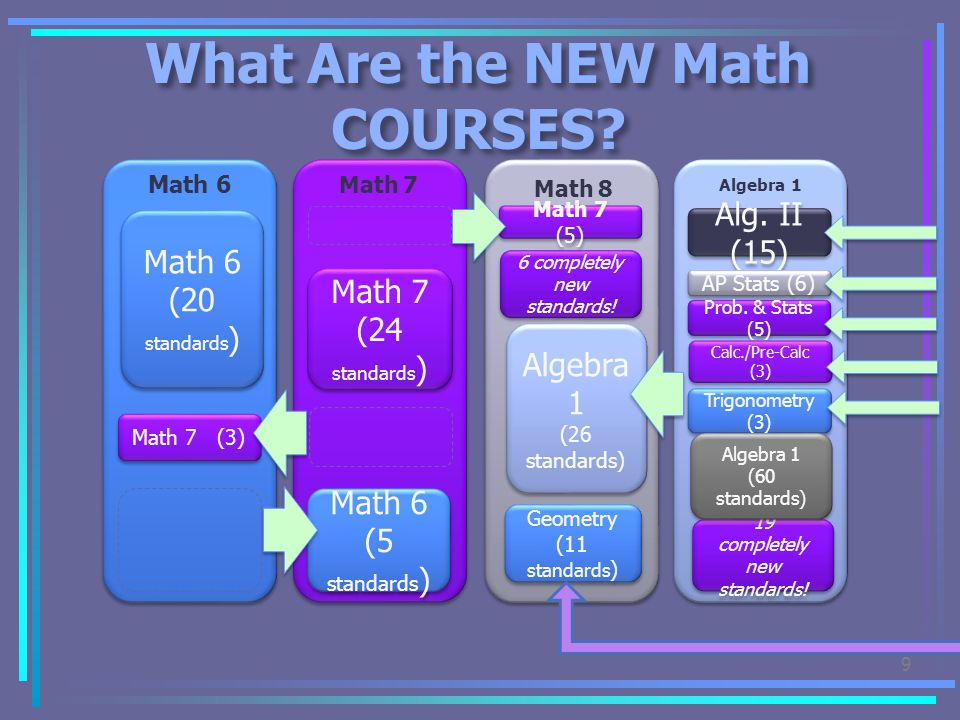 What Are the NEW Math COURSES
