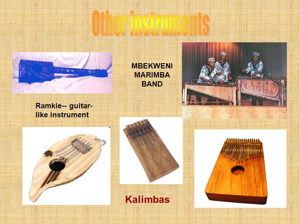 Other Instruments Kalimbas MBEKWENI MARIMBA BAND