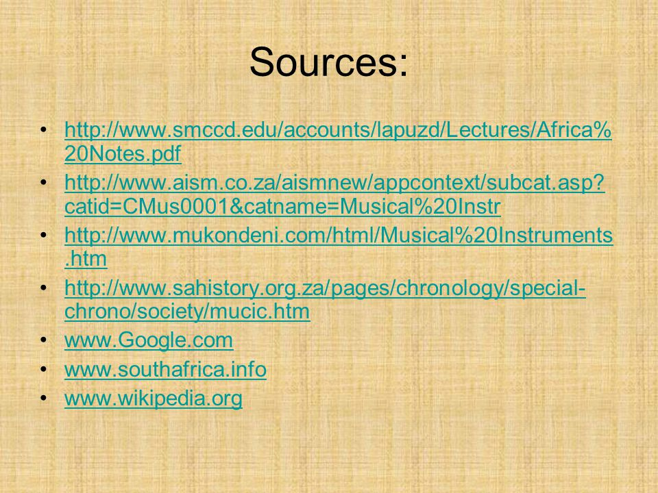 Sources: http://www.smccd.edu/accounts/lapuzd/Lectures/Africa%20Notes.pdf.