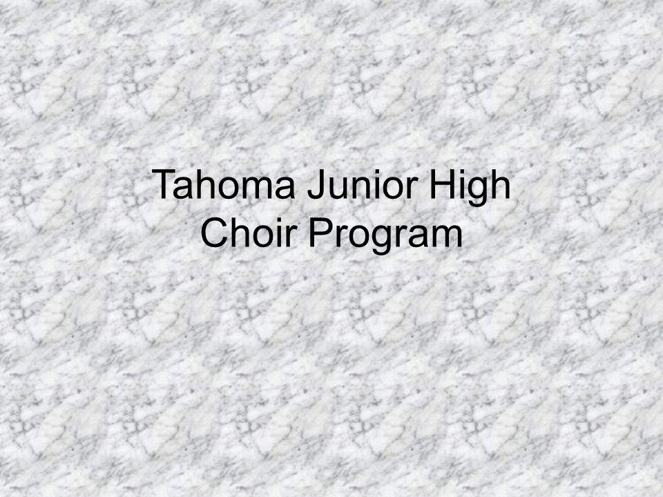 Tahoma Junior High Choir Program