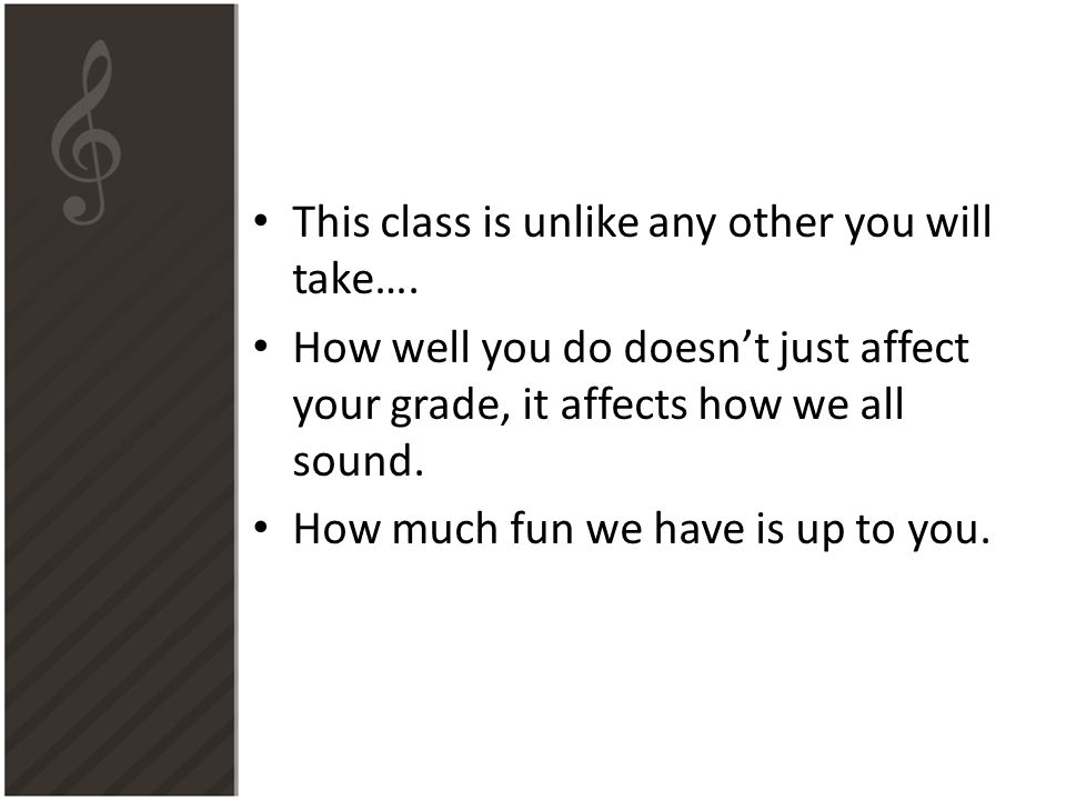 This class is unlike any other you will take….