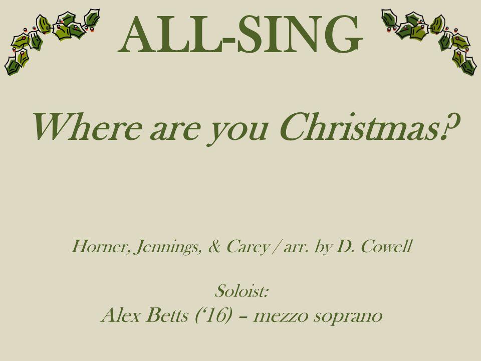 Where are you Christmas