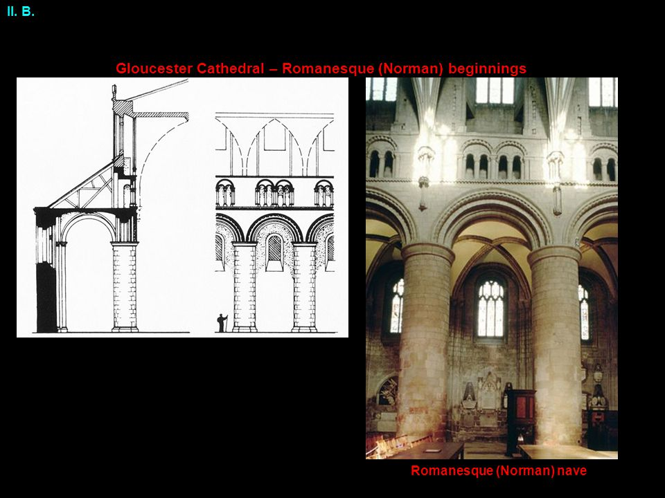 Gloucester Cathedral – Romanesque (Norman) beginnings