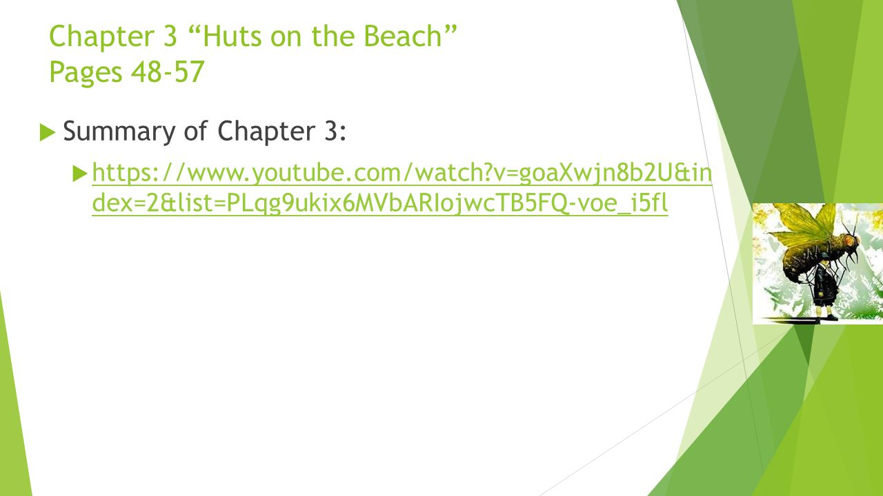 Chapter 3 Huts on the Beach Pages 48-57