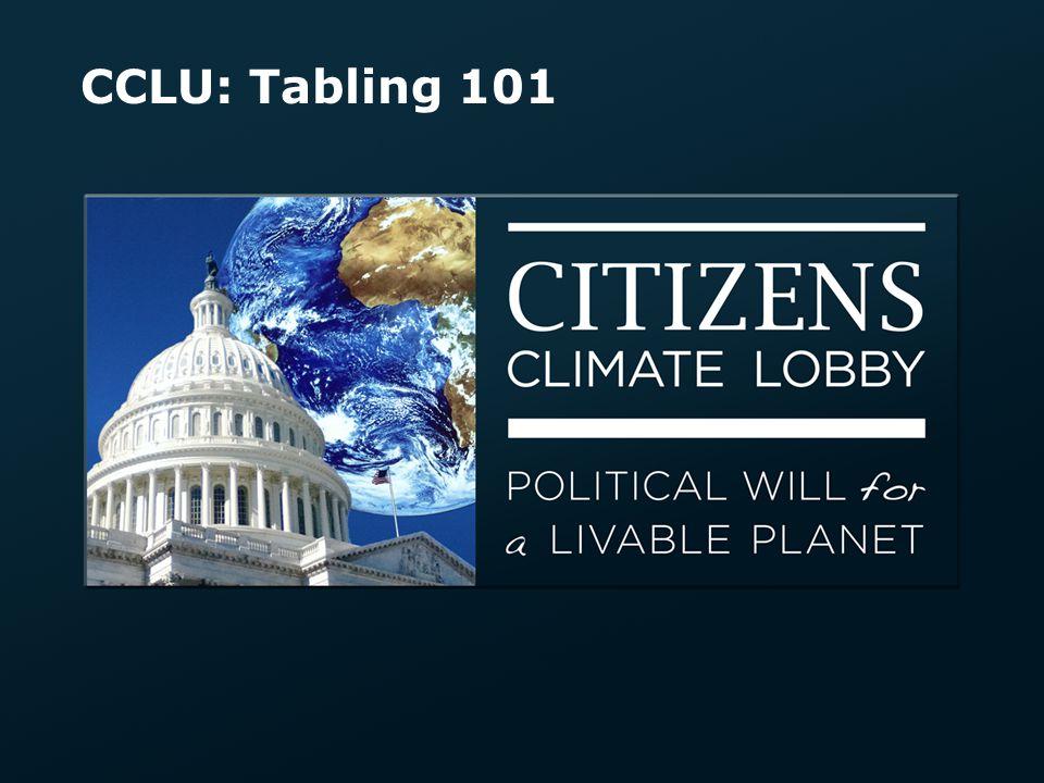 CCLU: Tabling 101