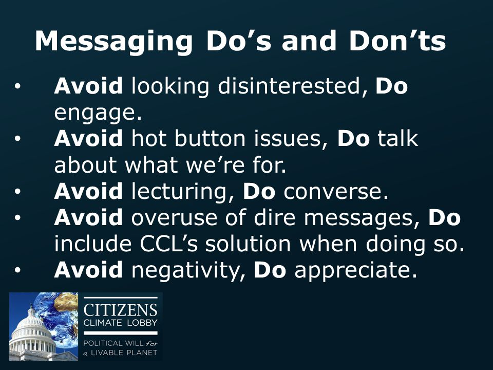 Messaging Do's and Don'ts