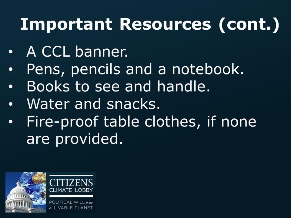 Important Resources (cont.)