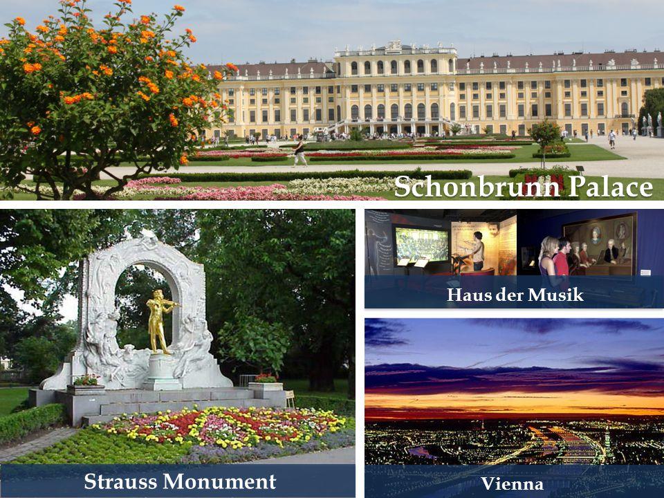 Schonbrunn Palace Haus der Musik Strauss Monument Vienna