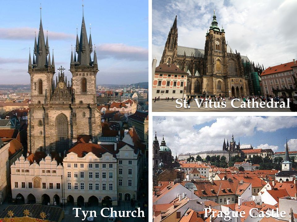 St. Vitus Cathedral Tyn Church Prague Castle